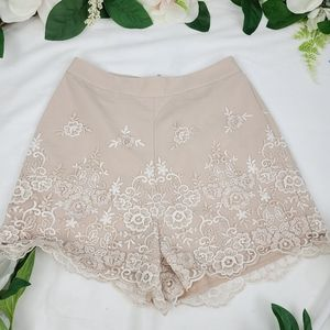 Lauren Conrad Runway Lace Embroidered Shorts